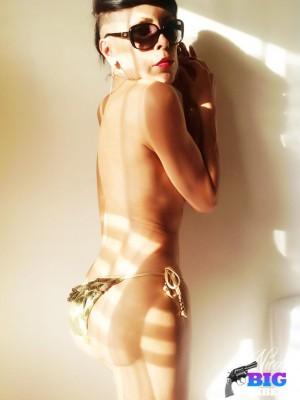 TS Nicole Big Caliber getting naked for you